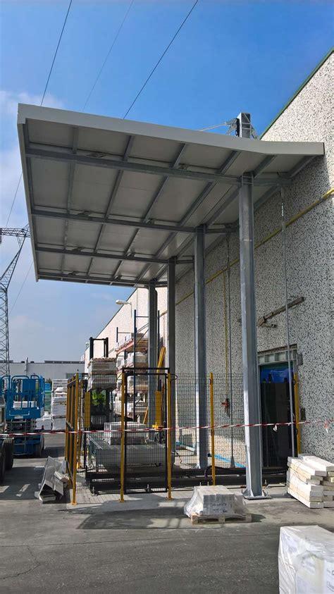 tettoia a sbalzo tettoia metallica a sbalzo per copertura zona carico e