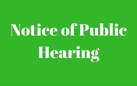 Image result for NOTICE OF PUBLIC HEARING