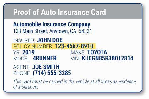 Address, phone number, email, website, reviews, contacts provident insurance co. Car Insurance Card Policy Number ~ news word
