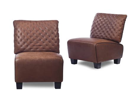 A Pair Of Brown Leather Slipper Chairs, , By De Sede