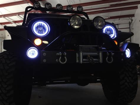 jeep halo lights oracle halo lights for jeep wrangler 2007 2015 jeep