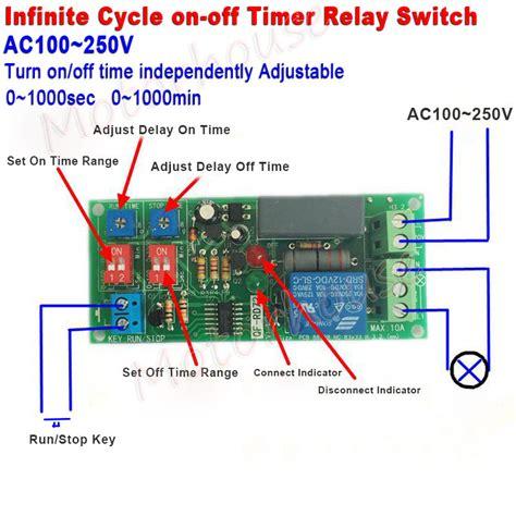 ac 110v 220v adjustable infinite cycle delay timer time relay turn on switch ebay