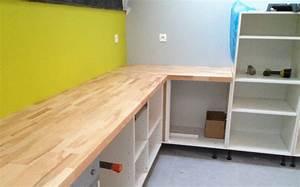amenager sa cuisine ouverte sur mesure le blog du bois With plan de travail cuisine hetre