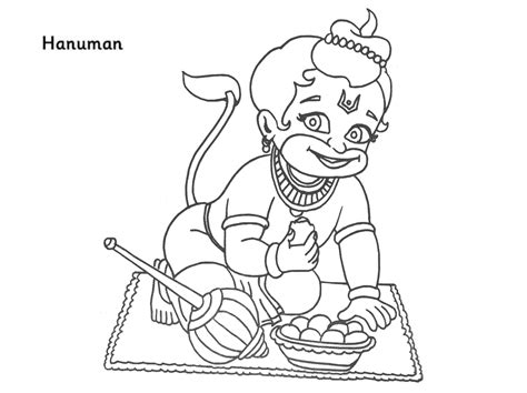 colour drawing  hd wallpapers lord hanuman coloring