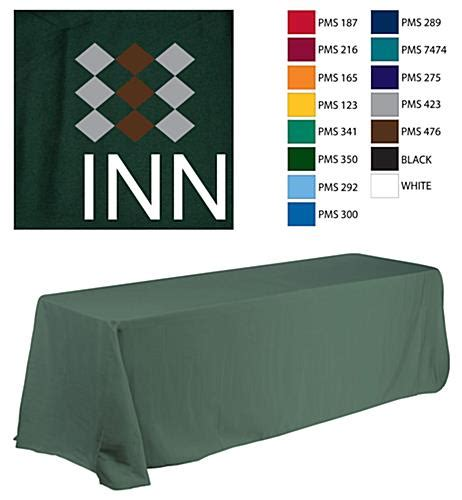 custom table covers with logo custom table covers 6 39 with 3 color logo
