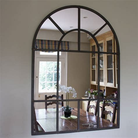 metal arch mirror by decorative mirrors notonthehighstreet com