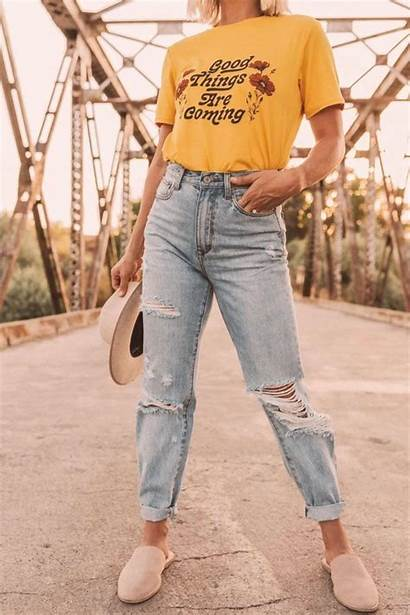 Jeans Ripped Skinny Waisted Outfit Outfits Distressed
