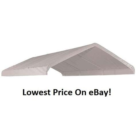 xx shelterlogic replacement canopy top cover    frame white  ebay
