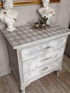 Kommode Grau Vintage : kommode m bel shabby chic grau wei raute vintage antik ~ Michelbontemps.com Haus und Dekorationen