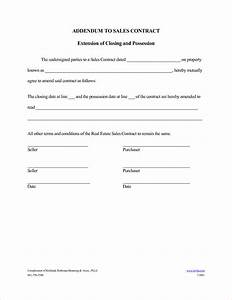 contract contract addendum template With construction addendum template