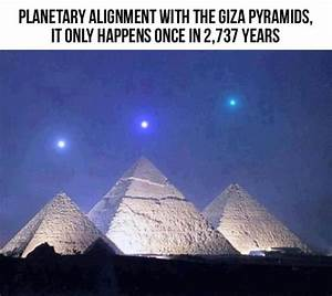 An interesting planetary alignment over the pyramids at ...