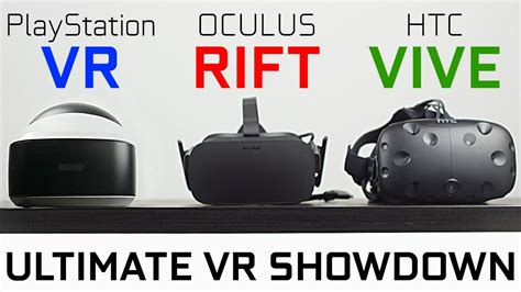 playstation vr vs oculus rift vs htc vive which one is best