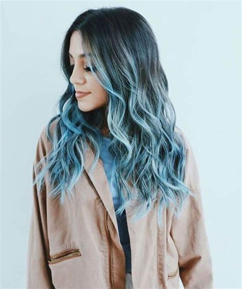 silver blue ombre hair  ways  sport  beauty