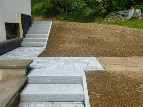 escalier exterieur en beton architecture design sncast
