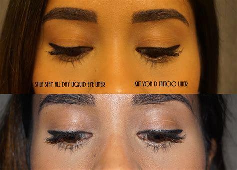 battle   eyeliners stila  kat von   jay beauty
