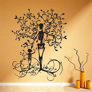 halloween decoration skeleton tree wall decal vinyl tree With tree of life wall decal