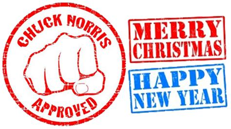 chuck norris new year have a merry christmas an awesome new year