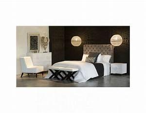 Tete Lit Capitonnée : tete de lit velours capitonn e chocolat ~ Premium-room.com Idées de Décoration