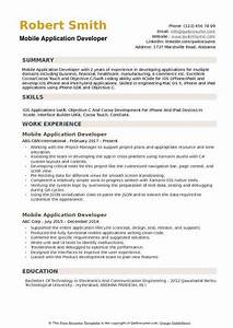 Java Developer Resume Objective Mobile Application Developer Resume Samples Qwikresume