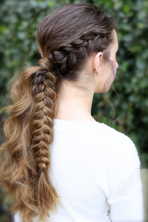The Viking Braid Ponytail Hairstyles For Sports Cute
