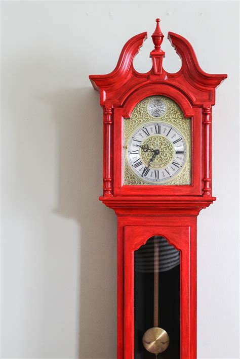 the little chair grandfather clock before after