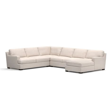 pottery barn townsend sofa townsend upholstered square arm 4 piece sectional with