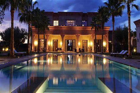 moroccan luxury villa  pool  rent  marrakech