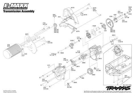 Traxxa T Maxx Steering Diagram by E Maxx Brushless 39087 Transmission Assembly Traxxas