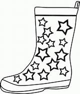Coloring Boots Rain Pages Winter Cowboy Boot Printable Template Clipart Drawing Cliparts Templates Shoes Cartoon Crafts Construction Printables Az Azcoloring sketch template