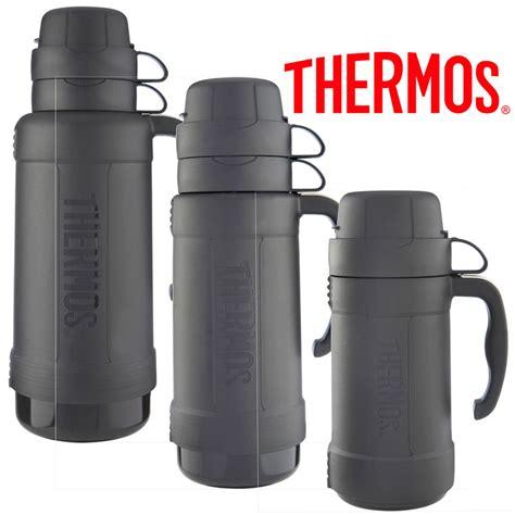 thermos eclipse glass vacuum flask 1 8l 1 0l 0 5l black ebay