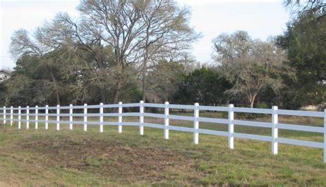 White & Almond Vinyl Fences