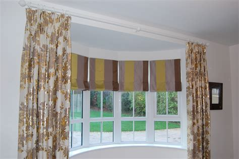 diana murray interiors roman blinds  bow window