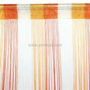 Rideau Fil Noir : rideau de fil 90 x h200 cm circus orange rideau et voilage eminza ~ Teatrodelosmanantiales.com Idées de Décoration