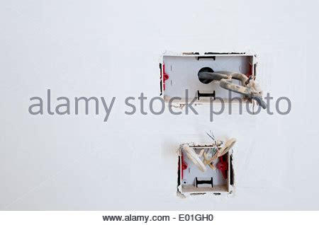 Electrical Outlet Wiring New Home Construction Stock