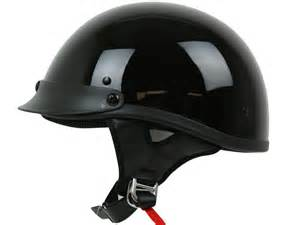 Black Motorcycle Half Shorty Helmet Dot Approved Bike