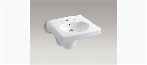 kohler wall hung sink brenham wall mount sink with single faucet hole k 1999