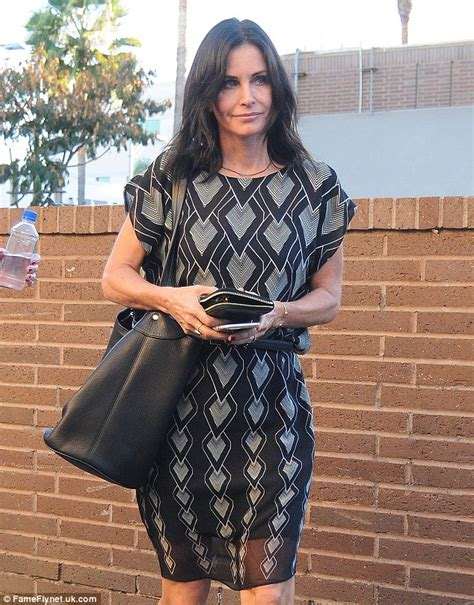 wedding dresses tulsa courteney cox 50 shows toned legs in lbd as she grabs lunch with girlfriends in
