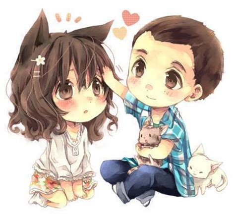 anime couple and cat timeline photos via facebook image 1149285 by nastty