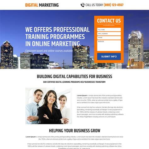 Digital Marketing Business by Business Opportunity Landing Page Designs To Capture Leads