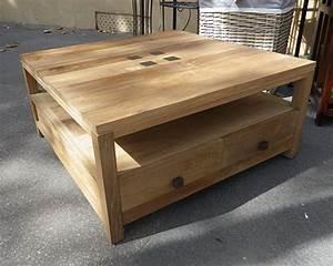 Table Basse Carrée En Bois : table basse teck keywest le meilleur du teck grade a ~ Teatrodelosmanantiales.com Idées de Décoration