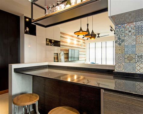 home  singapore space savvy interior laced  industrial elements