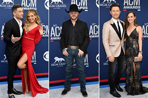 acm awards country stars shine   red carpet