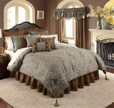 valverde 4 pc king comforter set blue green