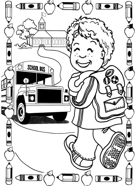 First Day Of School Coloring Pages GetColoringPages com