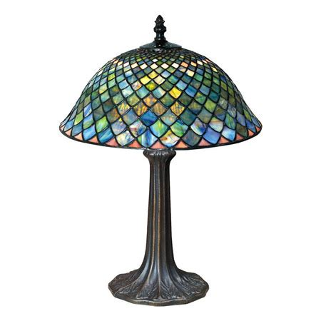 paul sahlin tiffany  tiffany fishscale table lamp