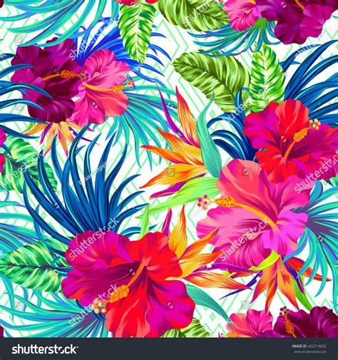 tropical pattern neon