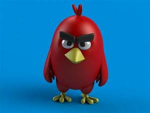 Angry Birds Red 3D Model 3D printable MAX OBJ FBX DXF STL ...  Angry