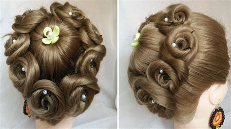 easy and amazing juda hairstyle with flower bun bridal updo hairstyles easy wedding