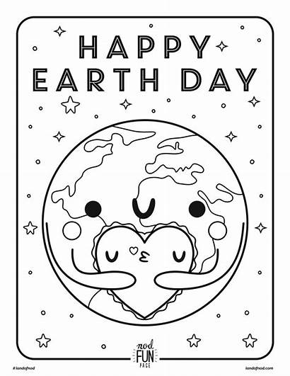Earth Coloring Printable Pages Colouring Preschool Activities