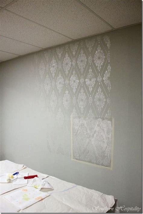 wall painting stencils ideas  pinterest wall
